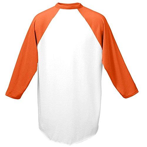 Augusta -  T-shirt - Uomo Multicolore - White / Orange