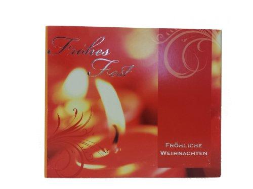 Weihnachtskarten Comic.10 Weihnachtskarten Mit Umschlag Christmas Rote Kerze Set Box Hochwertig Edel