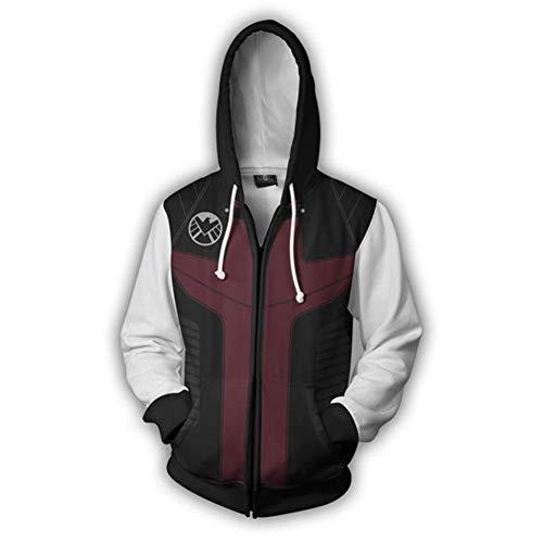 Hojoo 3d felpa con cappuccio pullover animazione cosplay cappotto giacca top uniforme da baseball unisex cerniera maglione avengers endgame s
