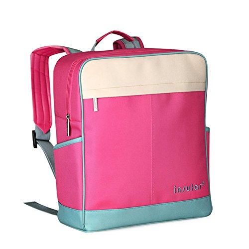 Kangming Multifunktions Baby Windel Rucksack Wickeltasche Mama Tasche für Reisen Outdoor rosarot