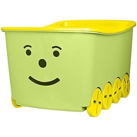 branq juguete caja juguete caja caja de 52l, con ruedas y tapa Top