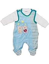 Zweiteilige NICKI Baby Strampler Set. Blau