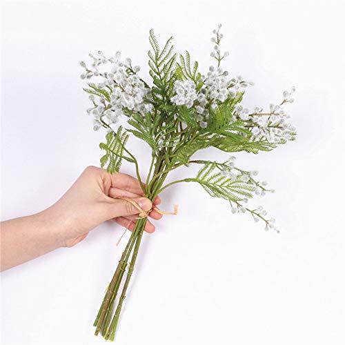 Bureze Ramo de Flores Artificiales de Acacia para decoración del hogar o el jardín de Acacia