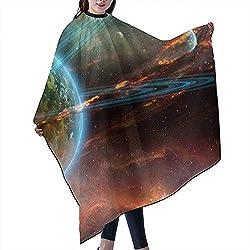 Friseur Schürze Weltraum Planet Erde Mars Meteorit Komet Asteroid Professioneller Umhang Haarkapuze Gefärbtes Haar Friseur Friseurbedarf Frisur Schürze