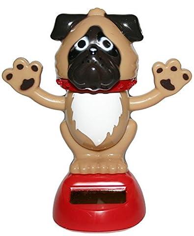 Chien Dancing Solar Powered Figure pour maison ou voiture Ornament Figure Dog Collectable