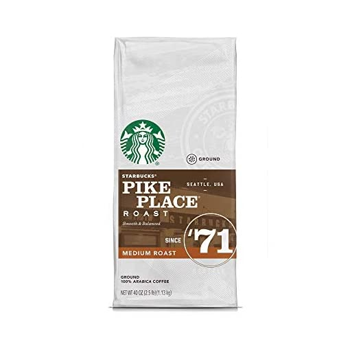 Starbucks Pike Place Roast Medium Roast Ground Coffee (40 oz / 2.5 lbs./ 1.13 kg)