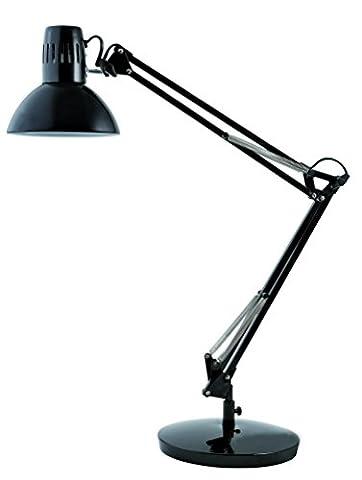 Alba Architect Double Arm Desk Lamp Black