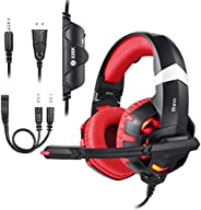 Zoook Premium Gaming Headphone 7.1ch Surround Sound with RGB Lights, Ultra-Comfort memory Foam; compatible wit