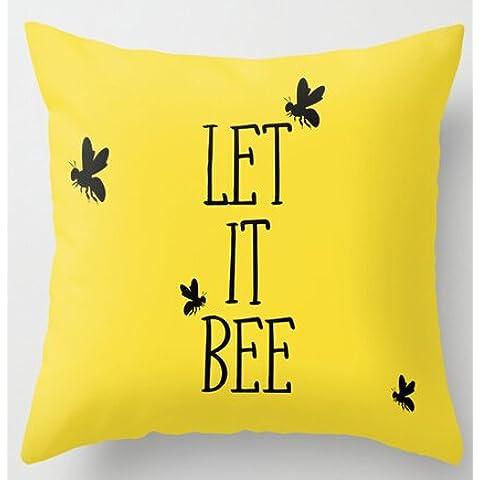 uk-jewelry One Piece di Let It Bee ispirato giallo federe cuscino morbido Nizza, Novelty Throw federe 45,7x 45,7cm