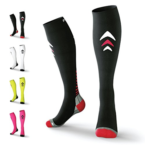 Rymora Compression Socks (Cushioned, Graduated Compression, Ergonomic fit for Men and Women) (Ideal for Sports, Work, Flight, Pregnancy)