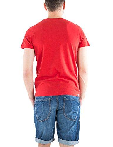 Timezone, T-Shirt Uomo Rot (SALSA RED 5210)
