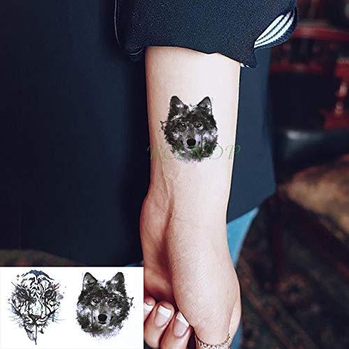 ljmljm 6pcs Autoadesivo del Tatuaggio Impermeabile Animali del Fumetto Pianeta Coniglio Serpente Panda Tatto Tatoo rab Tatuaggi per Uomo Donna Nero 10,5x6 cm