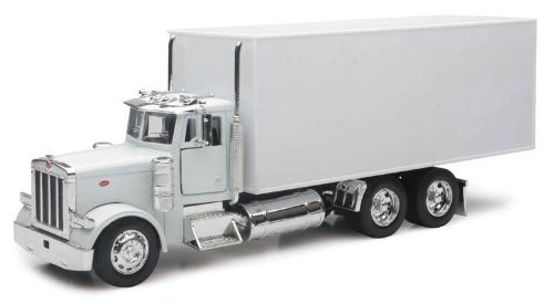 PETERBILT 379 Box Delivery Truck NEWRAY Diecast 1:32 Scale White by NewRay