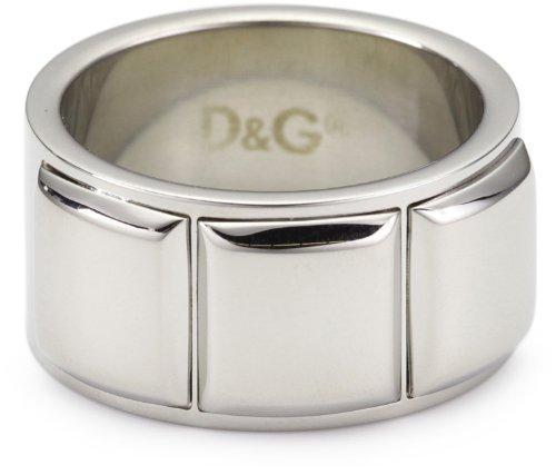 Dolce & Gabbana DJ0836 - Anillo de hombre de acero inoxidable (talla: 21)