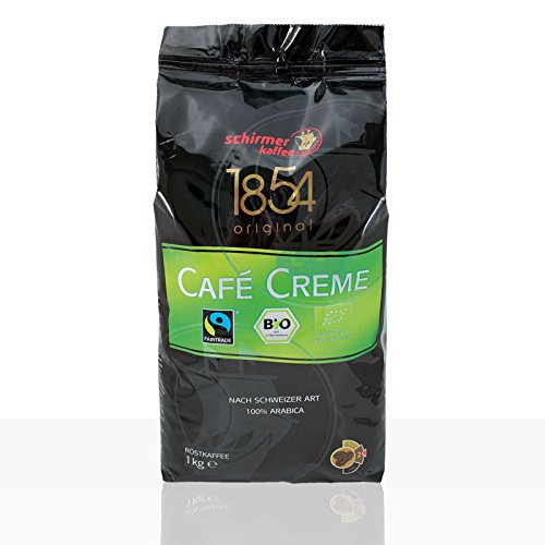 Schirmer Cafe Creme 1854 Fairtrade - 1kg Kaffee-Bohne, 100% Arabica