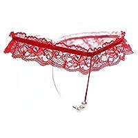 سراويل داخلية مُطرزة بيرسبكتيف، سروال داخلي لانجيري للمساج، ملابس داخلية، لون احمر