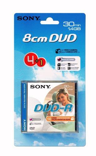 Sony 8cm DVD-R 30min–4Pack Plus One