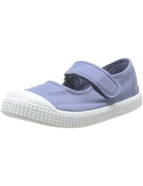 Victoria Mercedes Velcro Lona Tinta 136605 - Zapatillas de tela para niñas, color azul, talla 21