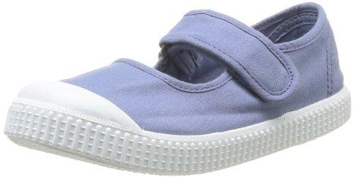 Victoria  Mercedes Velcro Lona Tinta,  Sneaker Bambina, blu (Bleu (36 Azul)), 33 EU