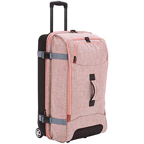 AmazonBasics - Reisetasche mit Rollen, Groß, Lachs