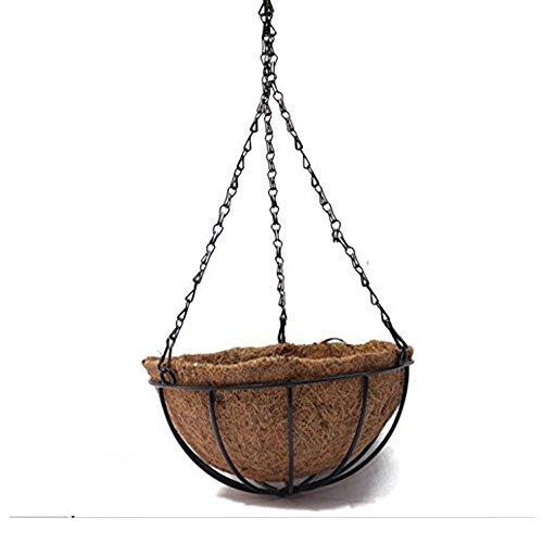 TJW Cestos Palma de Coco para Colgar,Canasta De Flores,Plantas,Jardinera Round Colgante Para Plantas Al Aire Libre,Decoraciones Colgantes Del Hogar,Casa,Jadin, Hotel, Restaurante (1, 30 cm)