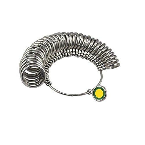 Tofree Ringgrößen-Set mit Ringdorn aus Metall, Ringgrößenmesser, Schmuckmesswerkzeug, Ringmessgerät