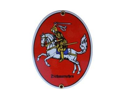 Ritter Dithmarschen Wappen Emaille Schild Dithmarschen 11,5 x 15 cm Emailschild Oval. (E-mail Ritter)