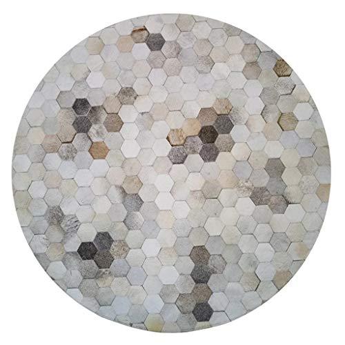 YOTA HOME Rug Carpet Hexagonal Gray Gray Imported Leather Nordic Fashion Living Room Coffee Table Large Bedroom Study Club Club Mosaic Carpet 60cm, 100cm Carpet (Size : 60CM)