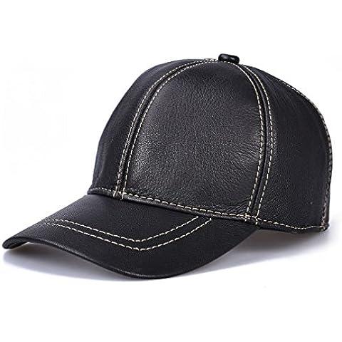 ZYONG*Cuoio a grano intero Hat Vera Pelle