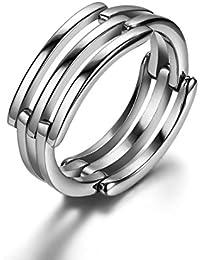 Anello in acciaio inox 2 JewelryWe drachensilber stimolanti modalità & infinito simbolo ciondolo in acciaio inossidabile uomo donna anello matrimonio Band regalo taglia 52 fino a 57