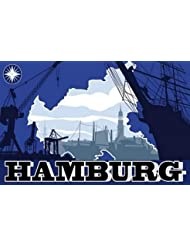 Autoaufkleber Sticker Hamburg Silhouette Aufkleber
