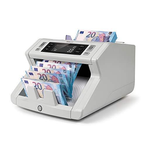 Safescan 2210 - Banknotenzähler für sortierte Geldscheine, mit 2-facher Falschgeldprüfung