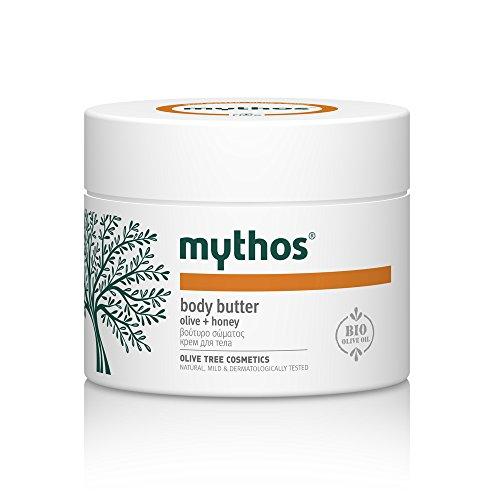 Honey Almond Body Butter (MYTHOS BODY BUTTER IDEAL FOR DRY SKIN AREAS OLIVE + HONEY 200 ML.)
