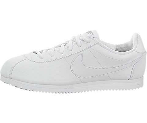 Nike Youths Cortez White Leather Trainers 39 EU