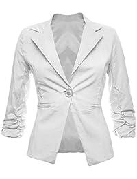 superior quality 8e665 7fccc Amazon.it: giacca bianca cotone - Tailleur e giacche / Donna ...