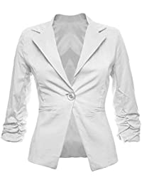 superior quality 54f0c ae8cb Amazon.it: giacca bianca cotone - Tailleur e giacche / Donna ...