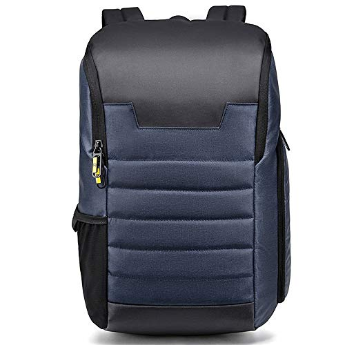 NY-close Reise-Laptop-Rucksack, Anti-Diebstahl-Rucksack Trekking-Rucksack Lässiger Reise-Tagesrucksack, großvolumiger wasserdichter Studentenrucksack for 13-15,6-Zoll-Laptops (Color : Blue)