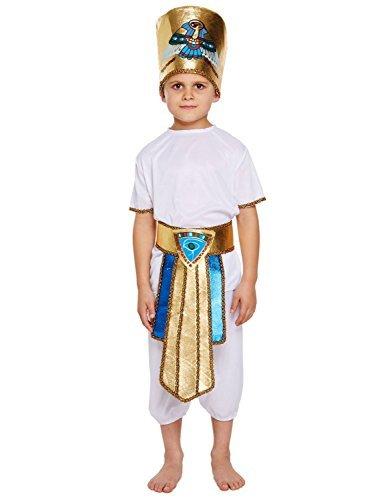 KOSTÜM KINDER ÄGYPTISCH JUNGE MEDIUM 7-9 JAHRE (Jungen Kostüm ägyptischen)
