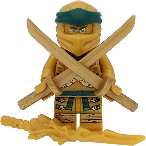 LEGO Ninjago Minifigur Lloyd - Goldener Ninja / Golden Ninja mit GALAXYARMS Waffen Katana (Golden Ninja Ninjago Lego-sets)