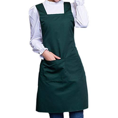 45b11ab9548 YLCJ Delantales Moda Coreana Ropa de Trabajo Delantal, Esteticista de la  Tienda de uñas,