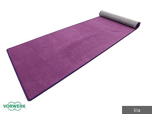 Bijou UNI - Der Vorwerk Teppichläufer von HEVO ® in Lila 067x200 cm