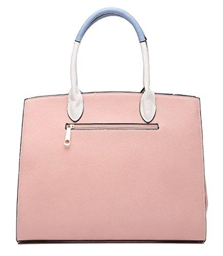 16560ac18deb7 ... LeahWard Große Taschen für Frauen Qualität Faux Leder Schultertaschen  Taschen für die Schule CW0155 (Braun ...