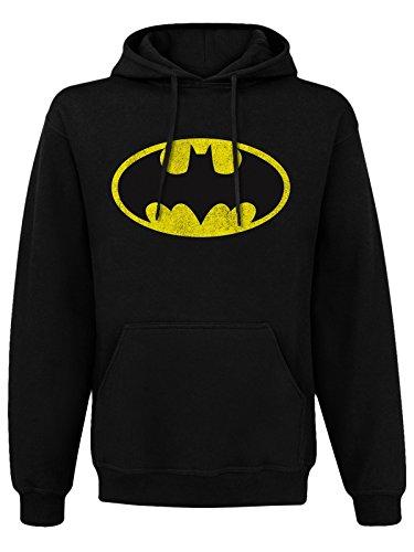 Batman batman Distressed Logo Hoodie, sudadera con capucha, negro, xx-large
