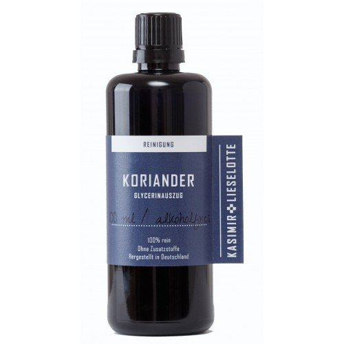Alkoholfreie Koriander Tinktur 100 ml - In Handarbeit aus frischen Korianderblättern in Brandenburg hergestellt - empfohlen von Anthony William -