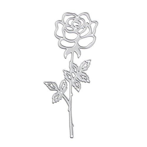 (Hothap Elegante Romantische Rose Stanzformen Schablonen DIY Scrapbook Album Karte Präge Handwerk)