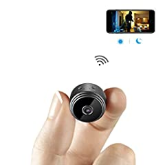 Idea Regalo - Mini Microcamere Spia AOBO 1080P HD Bottone Nascosta Telecamera WiFi IP Wireless Rilevamento di Movimento Portatile Videocamera di Sorveglianza Video Registrazione in Loop per iPhone Android