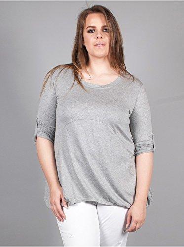 Vêtement Femme Grande Taille Tunique/Top Gris Multicolore