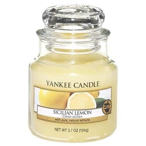 Yankee Candle Glaskerze, klein, Sicilian Lemon