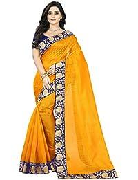 Aaradhya Fashion Saree For Women Bhagalpuri Silk soft Plain Saree with Blouse and shinning Printed Border for Girls house 1 women