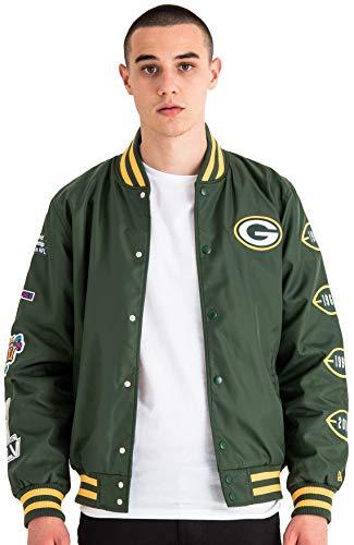 A NEW ERA Herren NFL Packers Champion Bombr Weste, Dunkelgrün, 2XL
